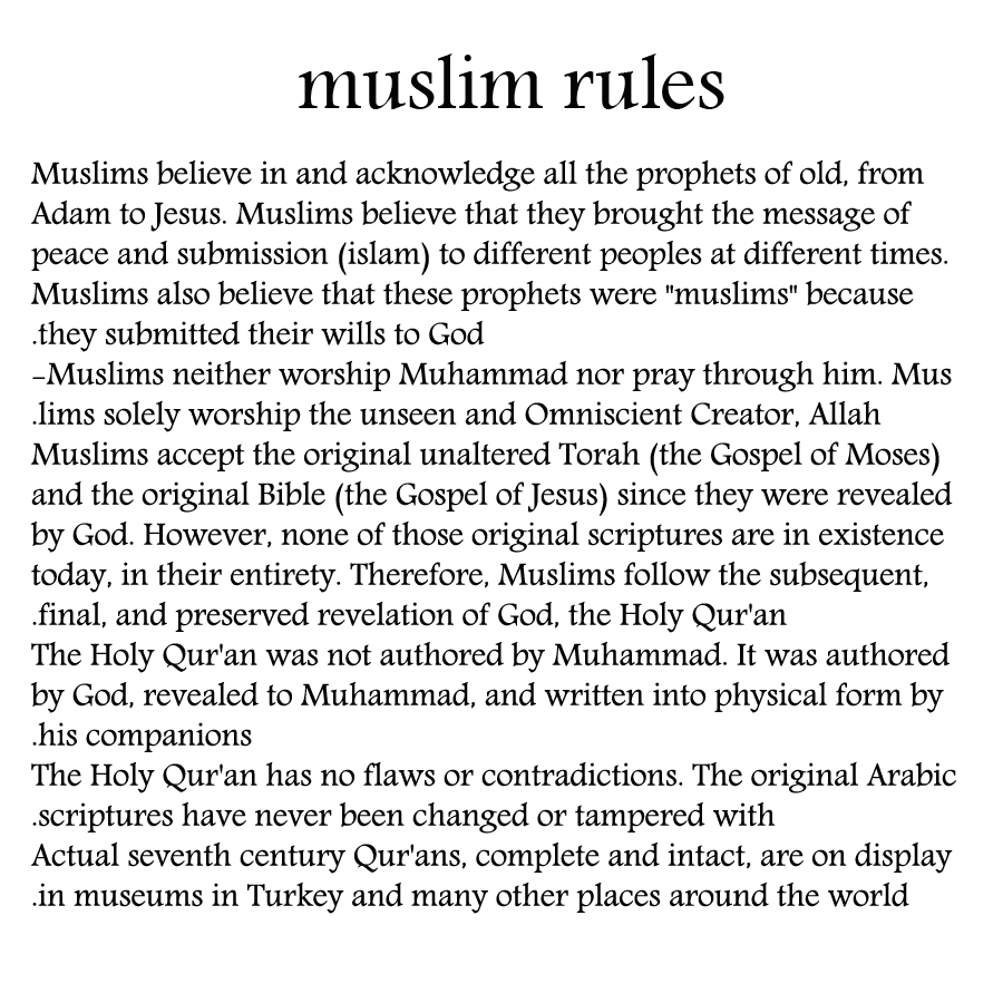 Love rules dating muslim man